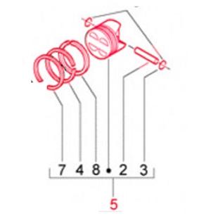 Product image for 'Piston PIAGGIO KAT. 4, 4.o/sTitle'