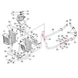 Imagen del producto para 'Abrazadera de apriete tubo de refrigeración, PIAGGIOTitle'