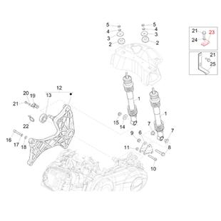 Imagen del producto para 'Abrazadera amortiguador trasero, PIAGGIOTitle'