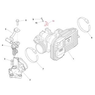 Imagen del producto para 'Abrazadera PIAGGIO válvula de mariposaTitle'