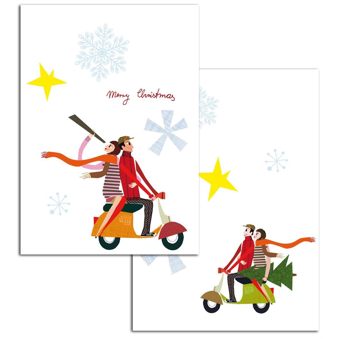 Imagen del producto para 'Tarjeta de saludo SIP Navidad con motivo VespaTitle'
