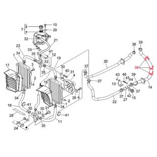 Imagen del producto para 'Abrazadera de apriete tubo de refrigeración, atrás izquierda, PIAGGIOTitle'