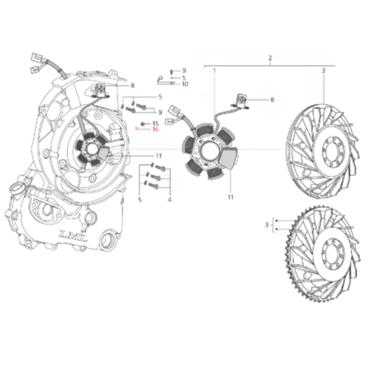 Imagen del producto para 'Soportes LML cable statorTitle'