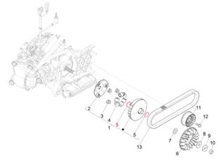 Image du produit 'Anneau d'arrêt PIAGGIO variateur'