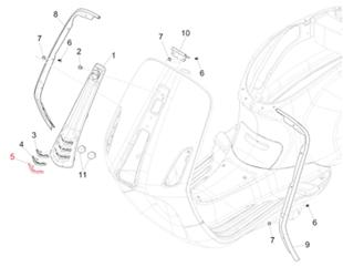 Image du produit 'Insert de nez de klaxon PIAGGIO, bas'