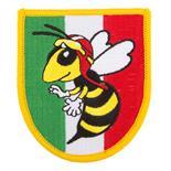 Image du produit 'Insigne cousue blason guêpe, Italie'