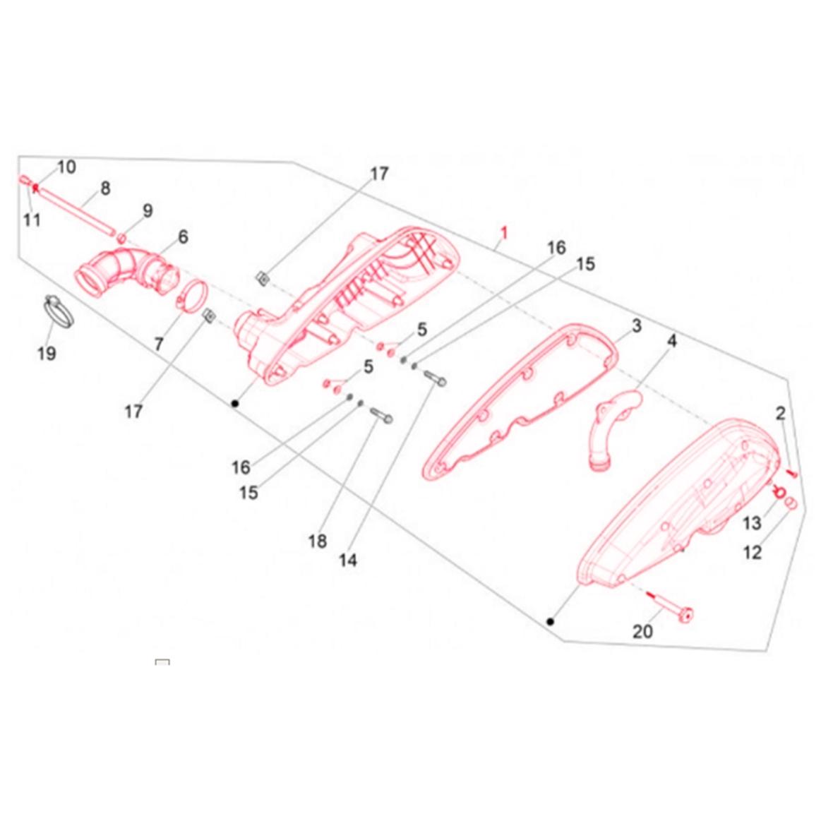 Image du produit 'Boîte de filtre à air PIAGGIO'