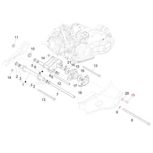 Image du produit 'Vis support bras oscillant M10x25 mm, PIAGGIO'