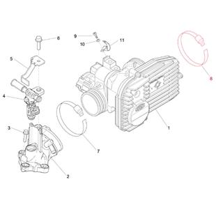 Image du produit 'Collier de tuyau clapet d'étranglement/filtre à air, PIAGGIO'