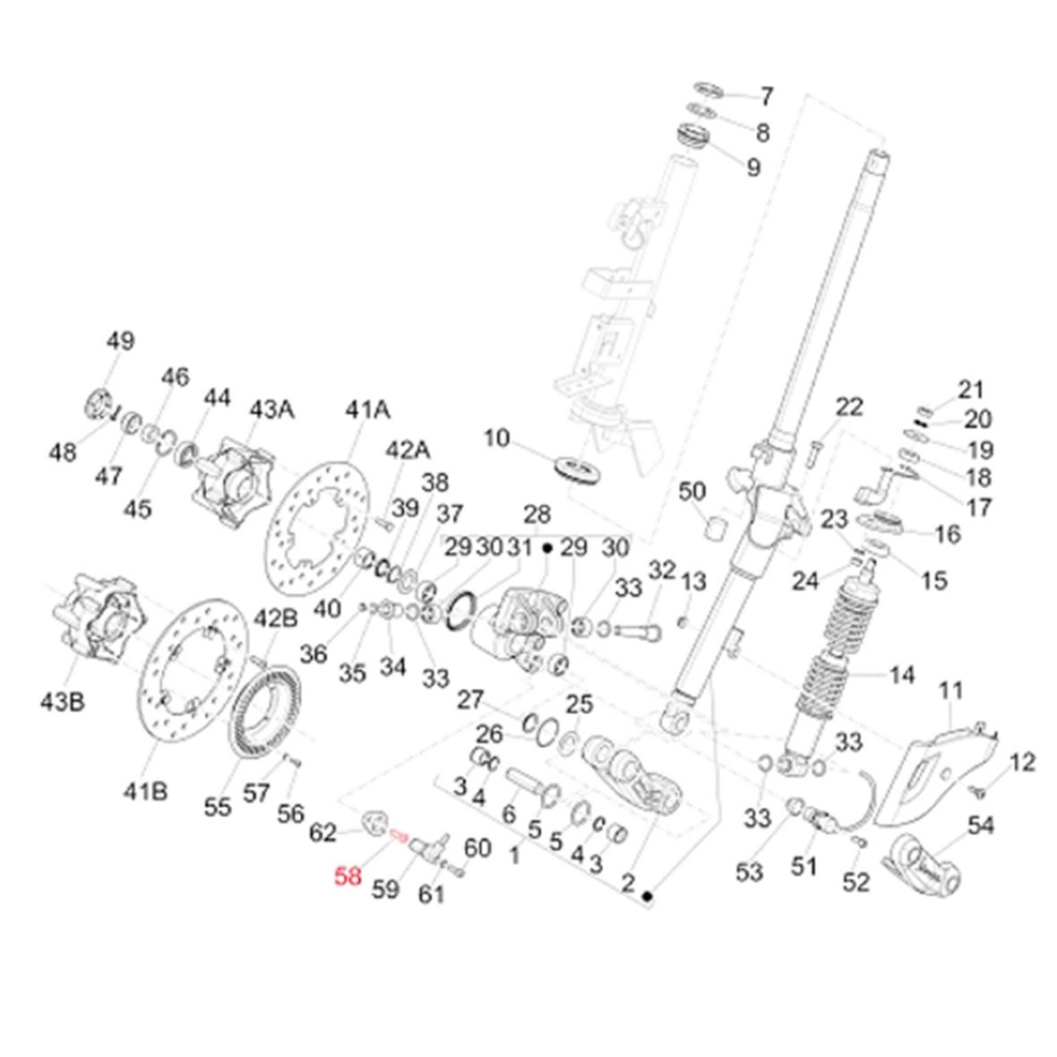 Image du produit 'Vis logement de l'essieu M6x18 mm, Torx, PIAGGIO'