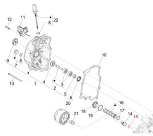 Image du produit 'Rondelle capteur de pression d'huile M10 mm, PIAGGIO'