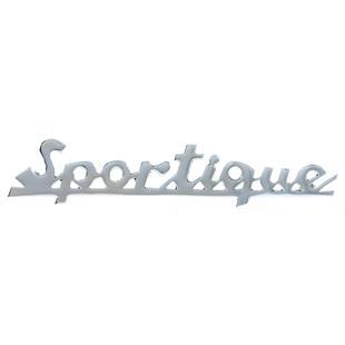 """Image du produit 'Insigne """"Sportique souligné"""" tablier avant'"""