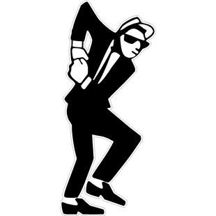 "Image du produit 'Insigne cousue ""2-Tone SKA Dancer""'"