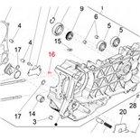 Image du produit 'Vis carter moteur M5x10 mm, PIAGGIO'