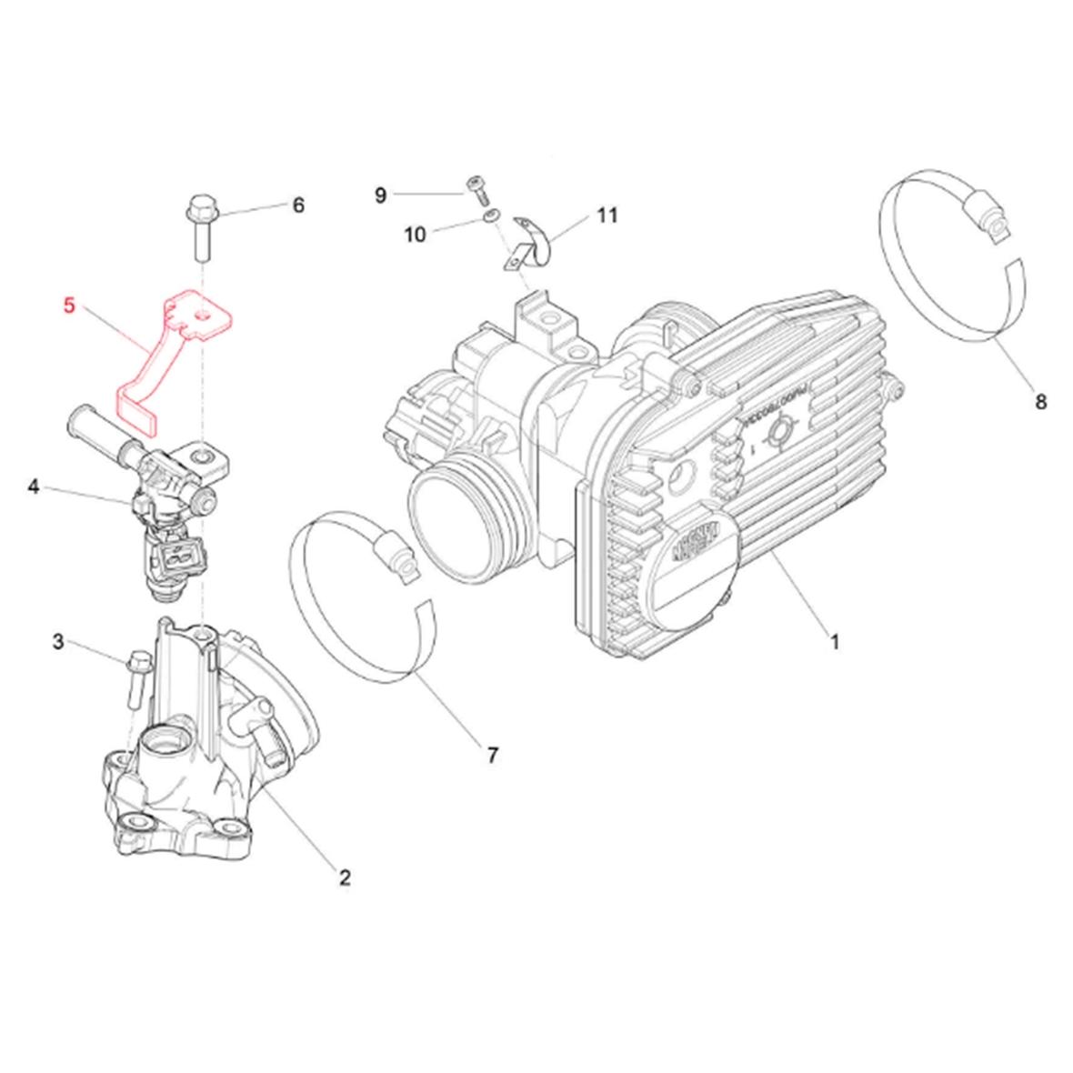 Image du produit 'Tôle de maintien PIAGGIO injecteur'