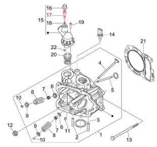 Image du produit 'Vis couvercle de thermostat, PIAGGIO'