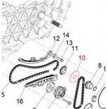 Image du produit 'Rondelle roue dentée chaîne de commande (pignon de pompe à huile) 35x47x7 mm, PIAGGIO'