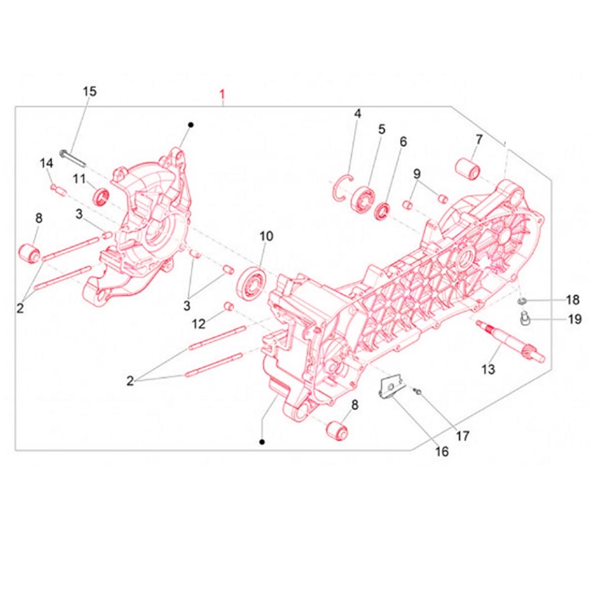 Image du produit 'Carter moteur PIAGGIO'