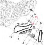 Immagine del prodotto per 'Vite tenditore catena di distribuzione valvola M6x25 mm, PIAGGIO'