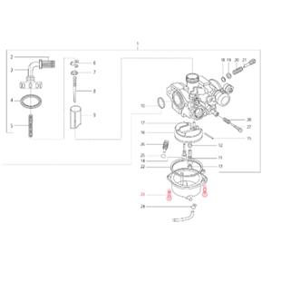 Immagine del prodotto per 'Vite vaschetta carburatore M4x14 mm, Vite con testa a croce, a testa cilindrica bombata, LML'