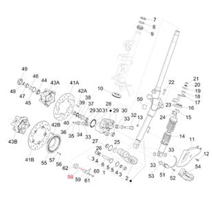 Immagine del prodotto per 'Vite supporto pinza freno anteriore M6x18 mm, Torx, PIAGGIO'