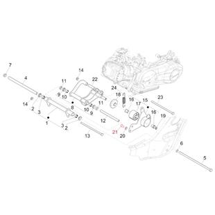 Immagine del prodotto per 'Vite sostegno braccio di sospensione M10 mm, esagonale, PIAGGIO'