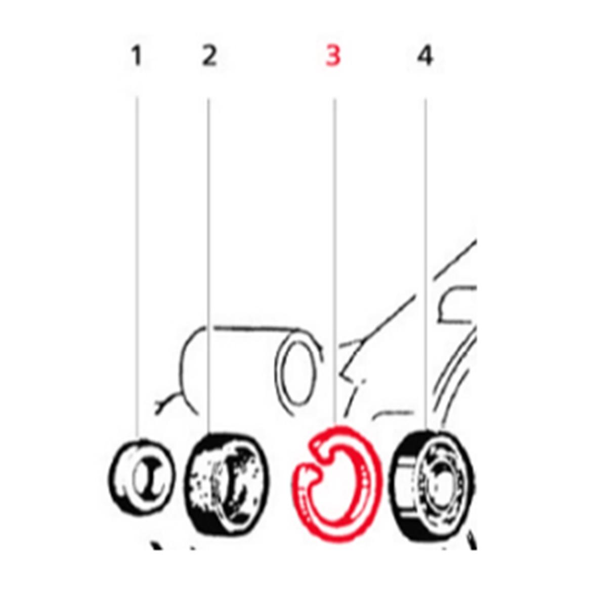 Immagine del prodotto per 'Anello di sicurezza LML cuscinetto albero cambio'