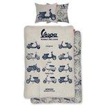 Immagine del prodotto per 'Lenzuola Vespa The World's Finest Scooter misura: 135x200cm / 80x80cm'