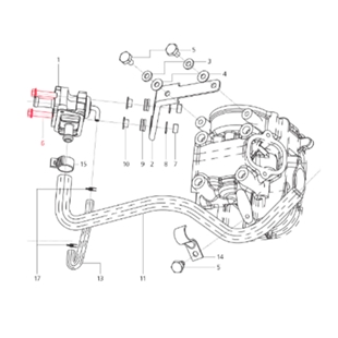 Immagine del prodotto per 'Vite valvola aria secondaria M6x25 mm, Esagonale con flangia, LML'