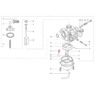 Immagine del prodotto per 'Vite vaschetta carburatore M6x20 mm, (intaglio), LML'