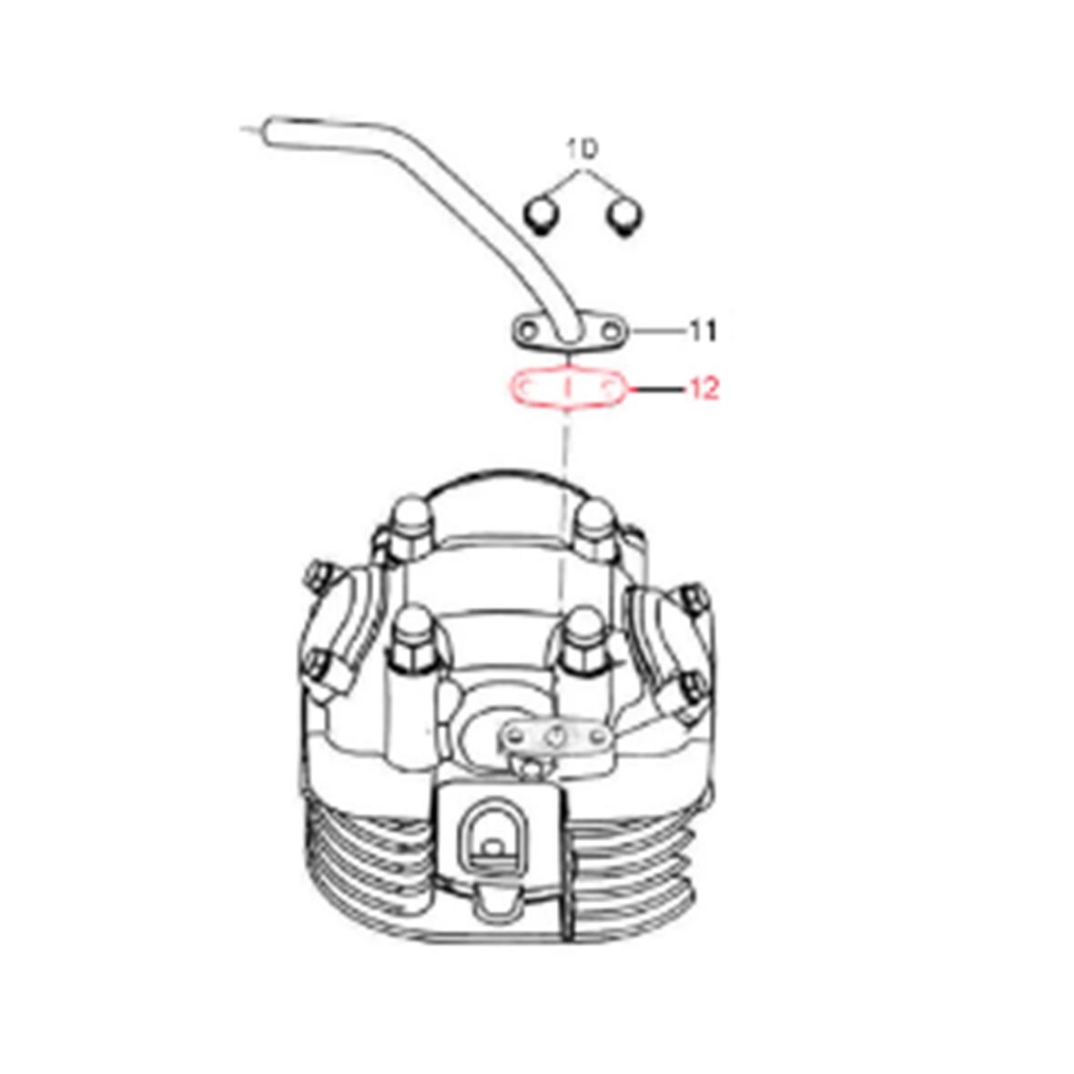 Immagine del prodotto per 'Guarnizione LML tubo aria secondaria'