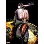 「ポスター SIP 「ベスパスプリント「STP」60's」モチーフ クラシックTitle」の製品画像