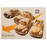 Productafbeelding voor 'Blikken Postkaart VW Collection VW Beetle - Four BeetlesTitle'