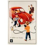 Productafbeelding voor 'Blikken Postkaart VW Collection VW Beetle - FamilyTitle'