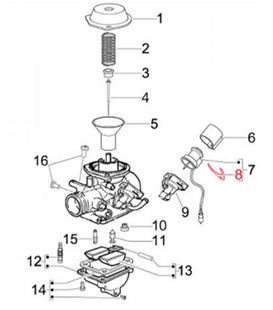 Productafbeelding voor 'Bevestigingsplaat E-choke, PIAGGIOTitle'