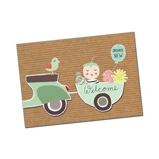 Productafbeelding voor 'Briefkaart SIP Welcome BabyTitle'
