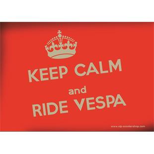"""Productafbeelding voor 'Briefkaart SIP met het motief """"KEEP CALM and RIDE VESPA""""Title'"""