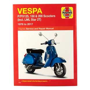 Productafbeelding voor 'Handboek HAYNES Vespa P/PX125, 150 & 200 (incl. LML Star 2T) '78-'14 Service & Repair ManualTitle'