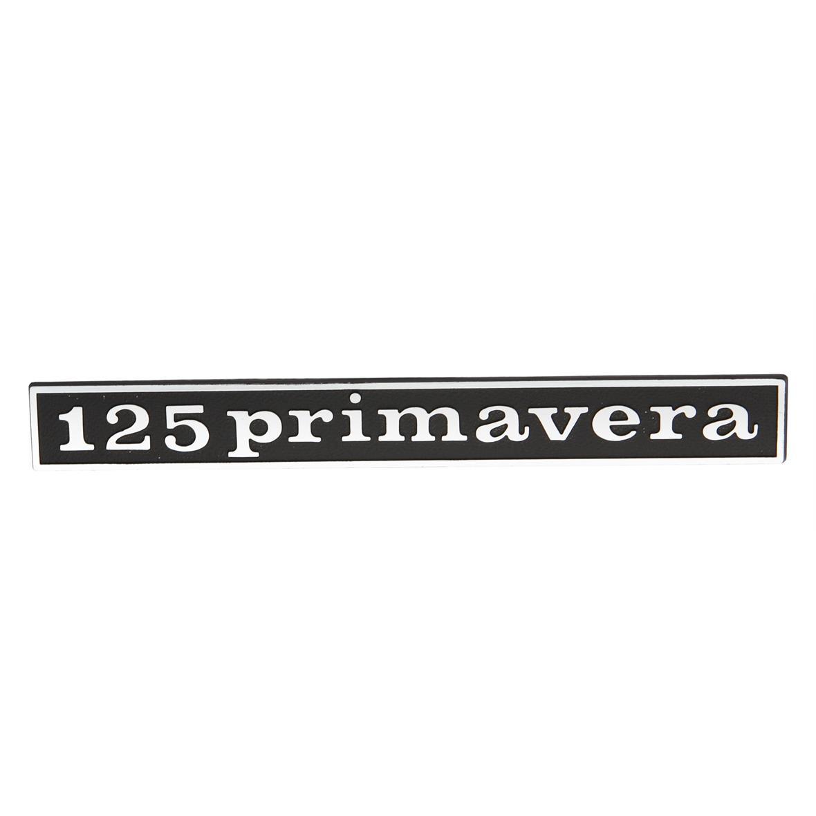 """Productafbeelding voor 'Typeplaatje """"125 primavera"""" achter achterTitle'"""