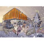 """Productafbeelding voor 'Briefkaart SIP """"Vrolijk kerstfest""""Title'"""