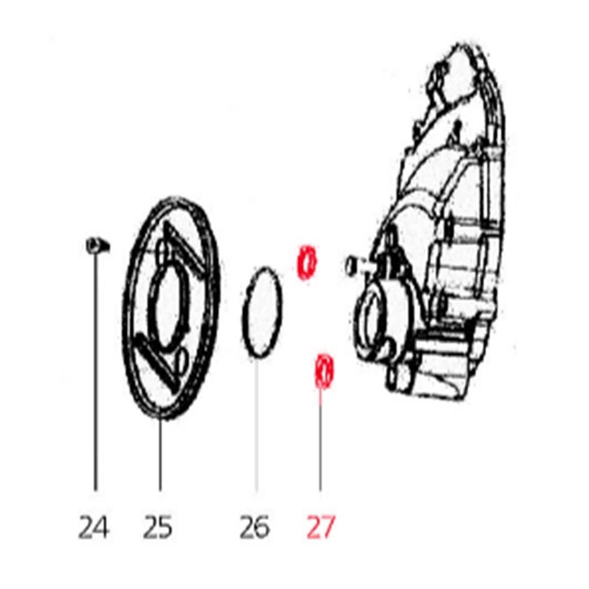 Productafbeelding voor 'O-Ring stofschermplaat achterwiel (klein) Ø i 22mm, Ø a 28 mm (dikte) 3mm, LMLTitle'