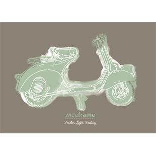 """Productafbeelding voor 'Briefkaart SIP met """"Vespa Fenderlight Feeling"""" -motiefTitle'"""