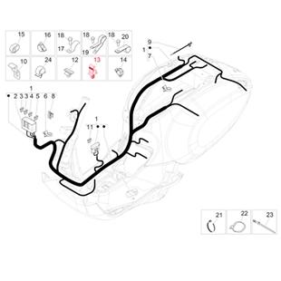 Productafbeelding voor 'Bevestigingsclip PIAGGIO kabelboomTitle'