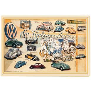 Zdjęcie produktu dla 'Blaszana kartka pocztowa VW Collection VW Garbus - Lata 50-teTitle'