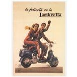 Zdjęcie produktu dla 'Poster la felicita va in LambrettaTitle'