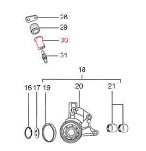 Zdjęcie produktu dla 'Prowadnica zębnika LML ślimak prędkościomierzaTitle'