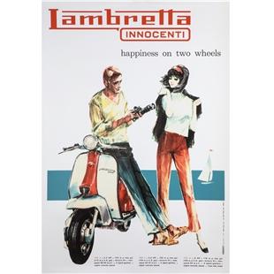 Zdjęcie produktu dla 'Poster Szczęście Lambretta na dwóch kołachTitle'