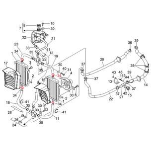 """Imagem de Produto para """"Braçadeira de tubo flexível radiador Ø 22,5 mm, em cima/ em baixo, PIAGGIOTitle"""""""