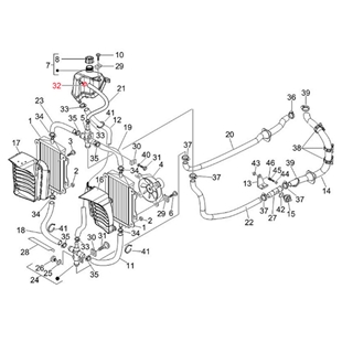 """Imagem de Produto para """"Braçadeira de tubo flexível Recipiente da água de refrigeração Ø 8-16 mm, PIAGGIOTitle"""""""
